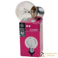 Лампа GE 40W E27 50мм бытовая прозрачная