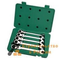 Набор ключей карданных с трещеточным механизмом Sata 5 предметов, S09082