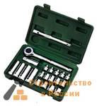 Набор комбинированных ключей с трещеточным механизмом Sata 7 предметов, S09024