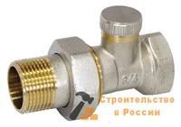 Вентиль регулир д/радиатора прямой под ключ I-TECH FM 3/4, никель, с жёлт засечками на резьбе